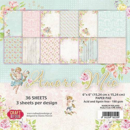 Craft & You, Paperpad, Amore Mio, 6x6 inch - CPB-AM15