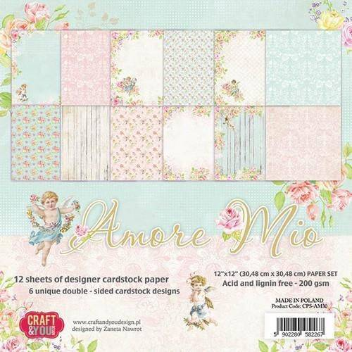 Craft & You,  Paperpad, Amore Mio, 12x12 inch - CPS-AM30