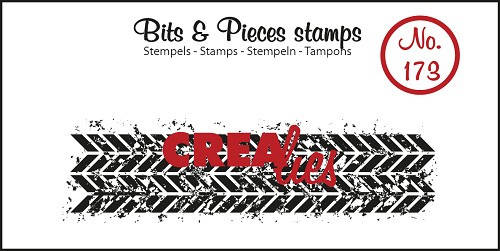 Crealies, Clear Stamp, Bits & Pieces, Grunge Zigzag - CLBP173