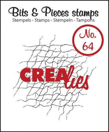 Crealies, Clear Stamp , Bits & Pieces, Messy Fibers - CLBP64