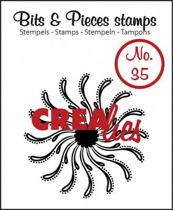 Crealies, Clear Stamp, Bits & Pieces, Swirl Circle - CLBP35