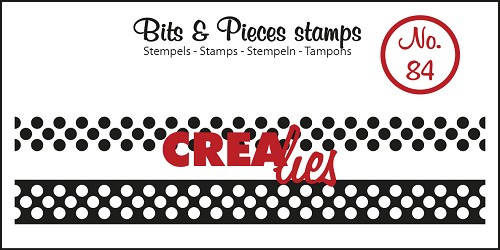 Crealies, Clear Stamp, Bits & Pieces, Ribbon With Dots - CLBP84
