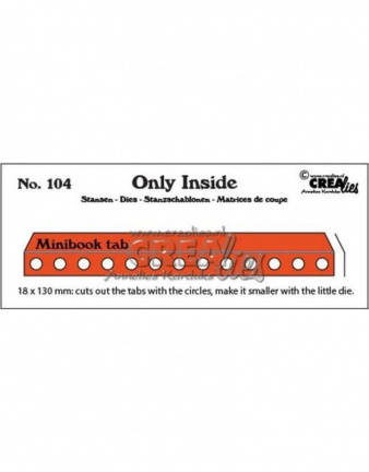 Crealies, Only Inside, Mini Bookholes With Tab - CLOI104