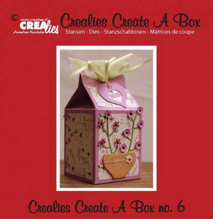 Crealies, Create A Box, Melkpak - CCAB06