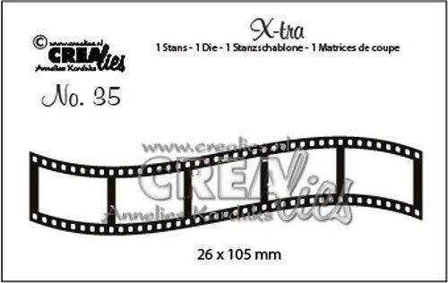 Crealies, Xtra, Curved Filmstrip , Small - CLXtra35