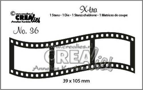 Crealies, Xtra, Curved Filmstrip , Middle- CLXtra36