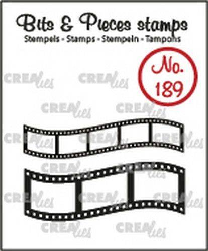 Crealies, Clear Stamp, Bits & Pieces, Curved Filmstrips - CLBP189