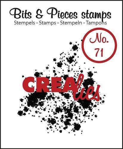 Crealies, Clear Stamp, Bits & Pieces, Ink Splashes Bold - CLBP71