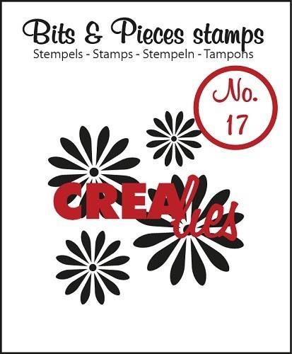 Crealies, Clear Stamp, Bits & Pieces, Flowers 1 - CLBP17