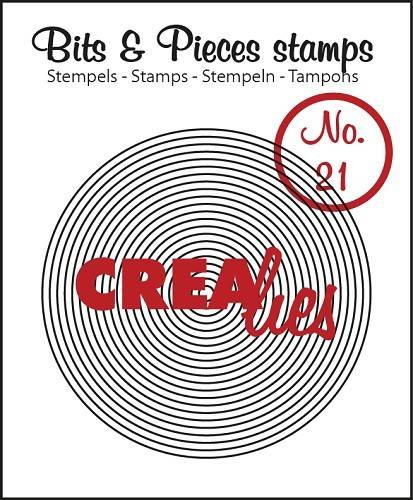 Crealies, Clear Stamp, Bits & Pieces, Circles In Circle - CLBP21