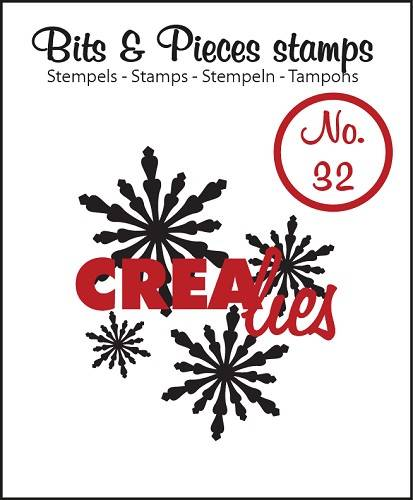 Crealies, Clear Stamp, Bits & Pieces, Snowflakes 2 - CLBP32