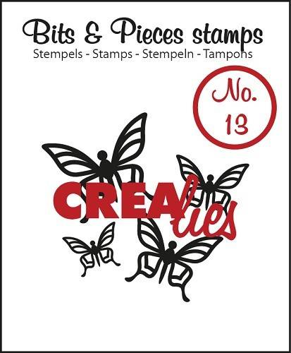 Crealies, Clear Stamp, Bits & Pieces, Butterfly 1  - CLBP13