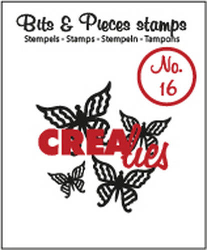 Crealies, Clear Stamp, Bits & Pieces, Butterfly 4 - CLBP16