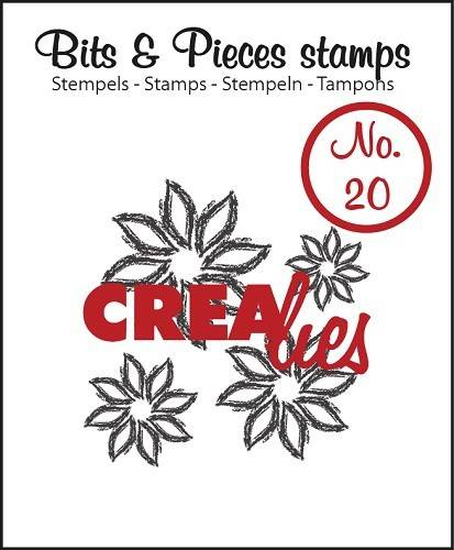 Crealies, Clear Stamp, Bits & Pieces, Flowers 4 - CLBP20