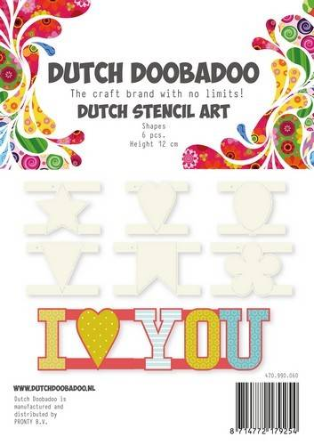 Dutch Doobadoo, Stencil Art, Shapes - 470.990.060
