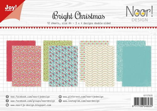 JoyCrafts, Noor Design, Papierset, Bright Christmas - 6011/0635
