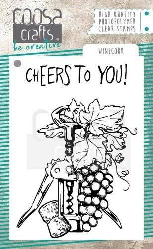 Coosa Crafts, Clear Stamp, Winecork-   COC-064