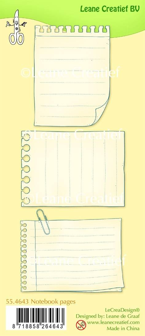 Leane Creatief, Clear Stamp, Notebook Pages - 55.4643
