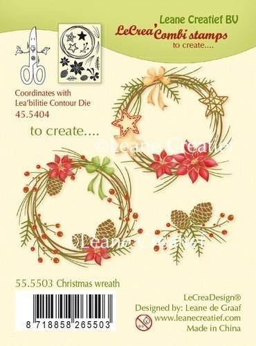 Leane Creatief, Combi Stamp, Christmas Wreath - 55.5503