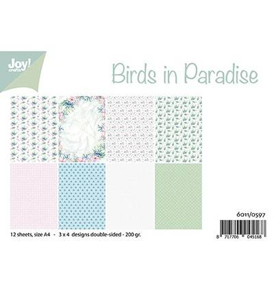 JoyCrafts, Papierset, Birds in Paradise - 6011/0597