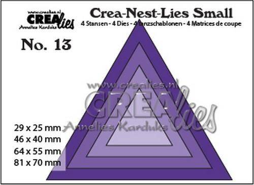 Crealies, Crea-Nest-Lies Small , Driehoeken  - CNLS13