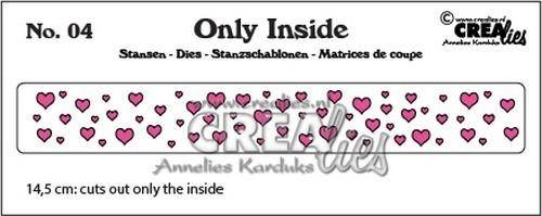 Crealies, Only Inside , Hearts - CLOI04