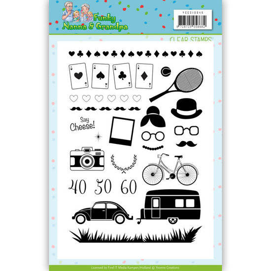 Yvonne Creations, Clear Stamp, Funky Nanna's - YCCS10046