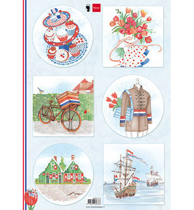 Marianne Design, Knipvel, I Love Holland, Bicycle - EWK1274