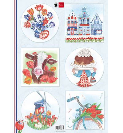 Marianne Design, Knipvel, I Love Holland, Tulips  - EWK1275