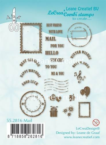 Leane Creatief, Clear Stamp, Mail - 55.2816