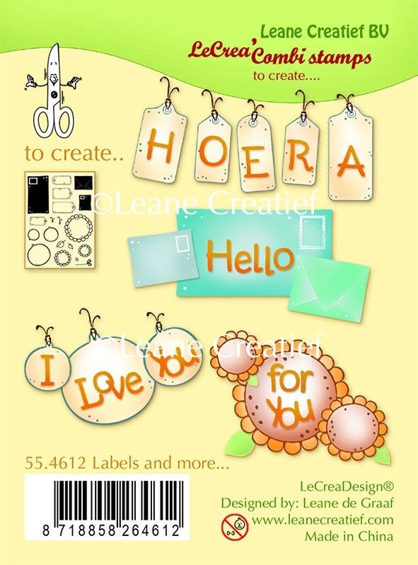 Leane Creatief, Combi Clear Stamp, Labels & More - 55.4612