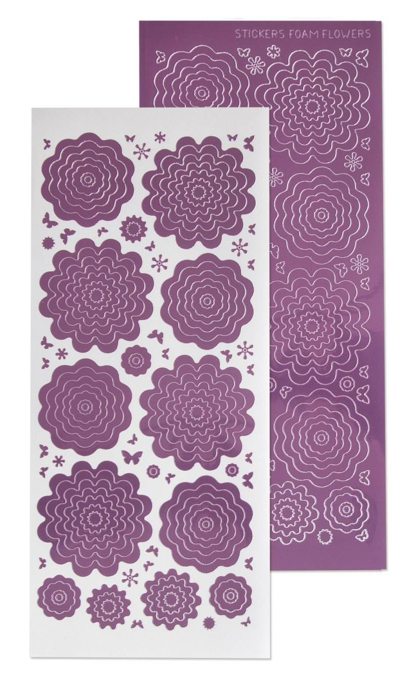 Leane Creatief, Nested Flowers Stickers, Mirror Candy - 61.5855
