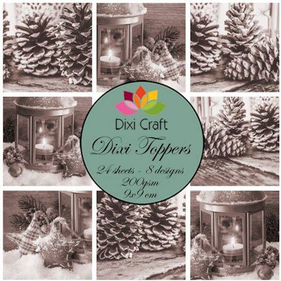 Dixi Craft, Toppers, Candle & Pinecones , Brown - ETL014