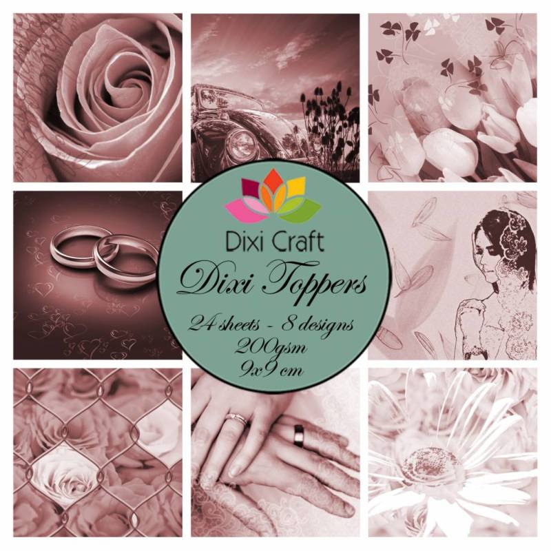 Dixi Craft, Toppers, Wedding, Sepia - ETL004