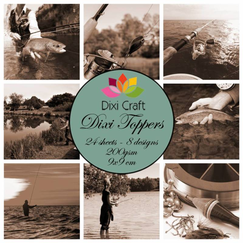 Dixi Craft, Toppers, Fishing, Sepia - ET0326