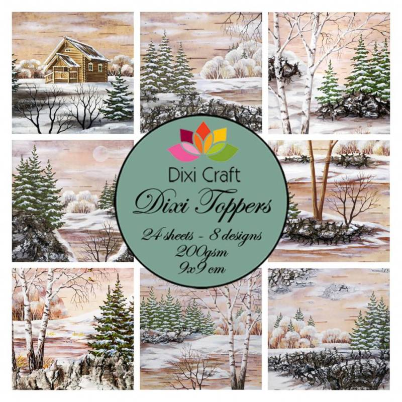 Dixi Craft, Toppers, Winter Lake - ET0277