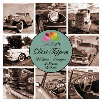 Dixi Craft, Toppers, Cars , Sepia  - ET0236