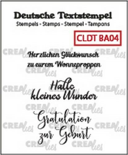 Crealies, Clear Stamp, Tekst, Baby 04 - CLDTBA04