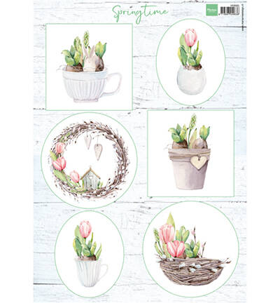 Marianne Design, Knipvel, Tulips & Willow Cats - VK9565