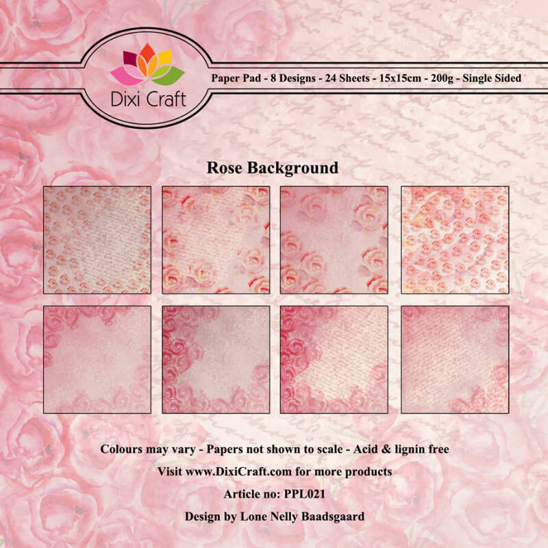 Dixi Craft, Paperpad, Rose Background - PPL021