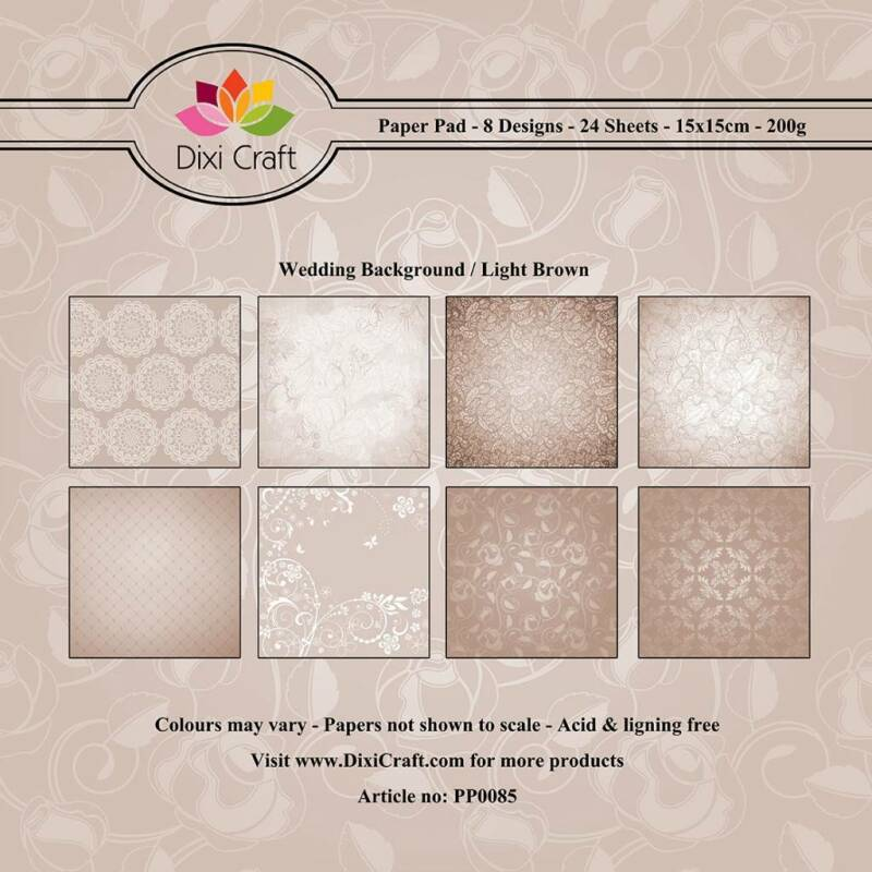 Dixi Craft, Paperpad, Wedding Background / Light Brown - PP0085