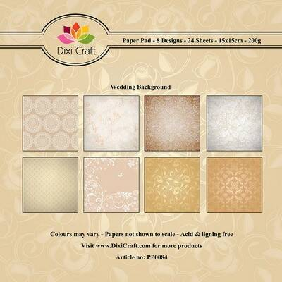 Dixi Craft, Paperpad, Wedding Background- PP0084