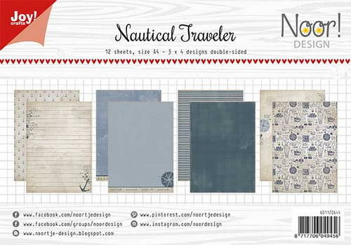 JoyCrafts, Noor Design, Papierset , Nautical Traveler - 6011/0644