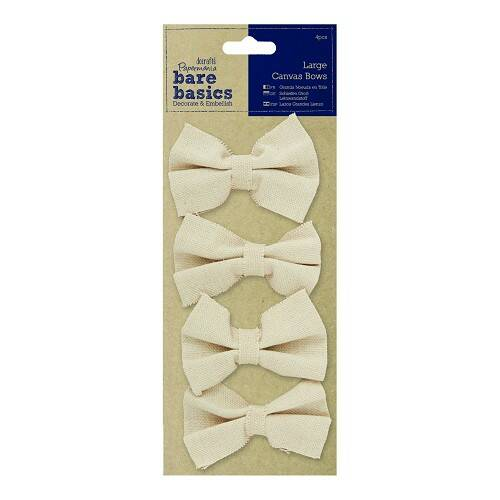 Papermania, Large Canvas Bows - PMA-174503