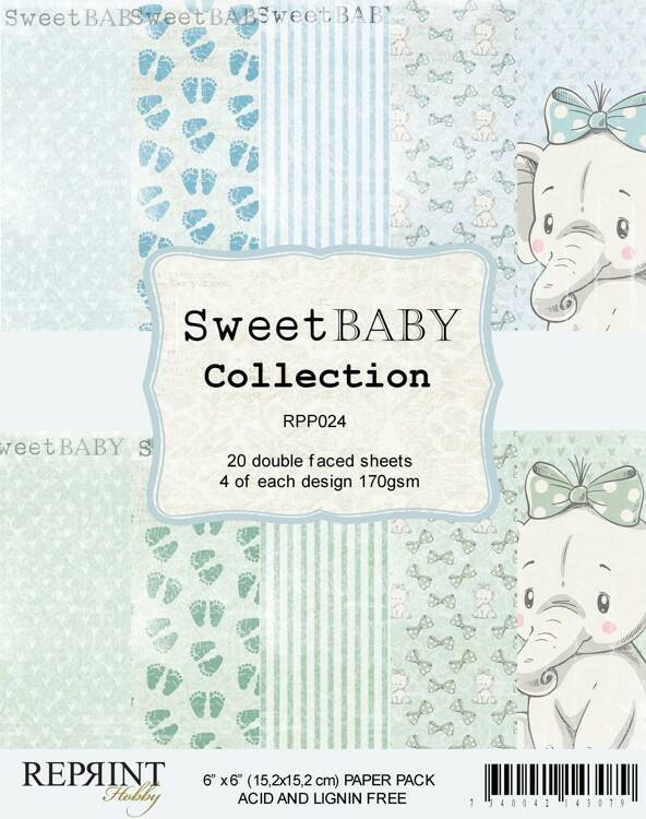 Reprint, Paperpad, Sweet Baby Collection - RPP024