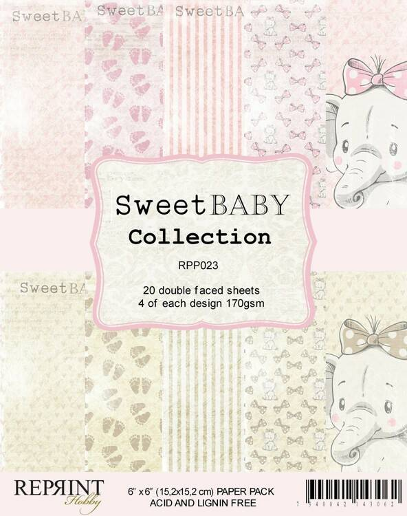 Reprint, Paperpad, Sweet Baby Collection - RPP023