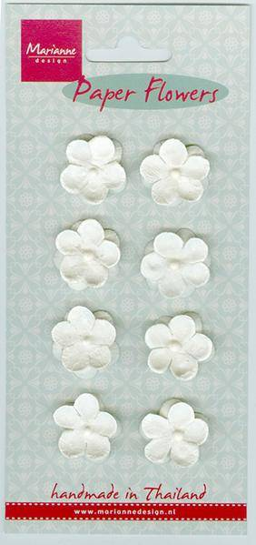 Marianne Design , Paper Flowers, Wit - RB22345