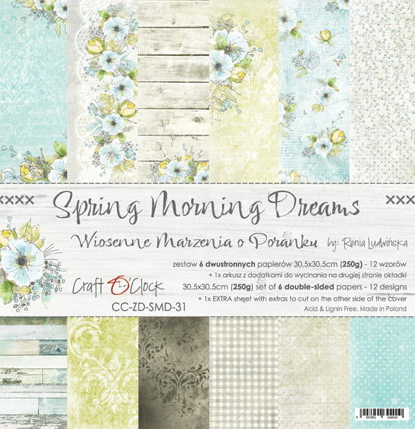 Craft O Clock, Paperpad, Spring Morning Dreams, 30,5 x 30,5 cm