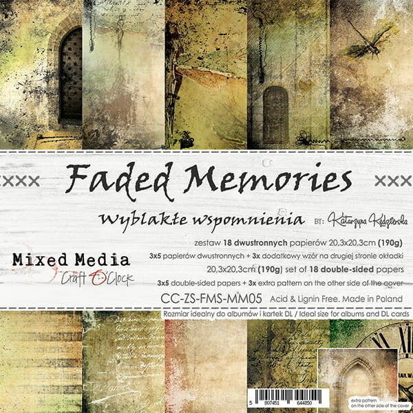 Craft O Clock, Paperpad, Faded Memories , 20,3 x 20,3 cm