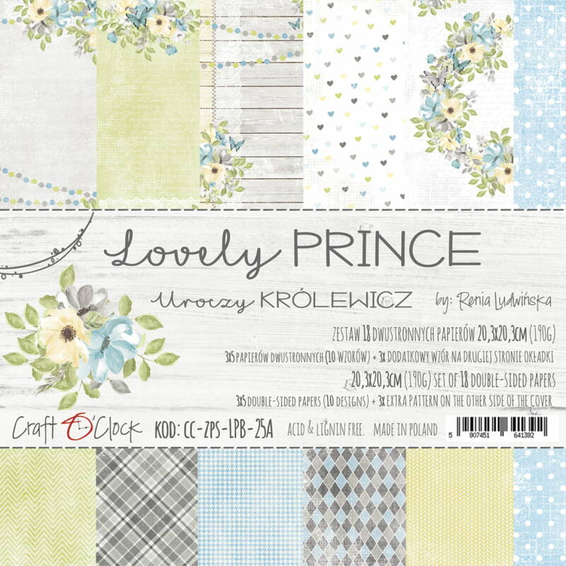 Craft O Clock, Paperpad, Lovely Prince , 20,3 x 20,3 cm